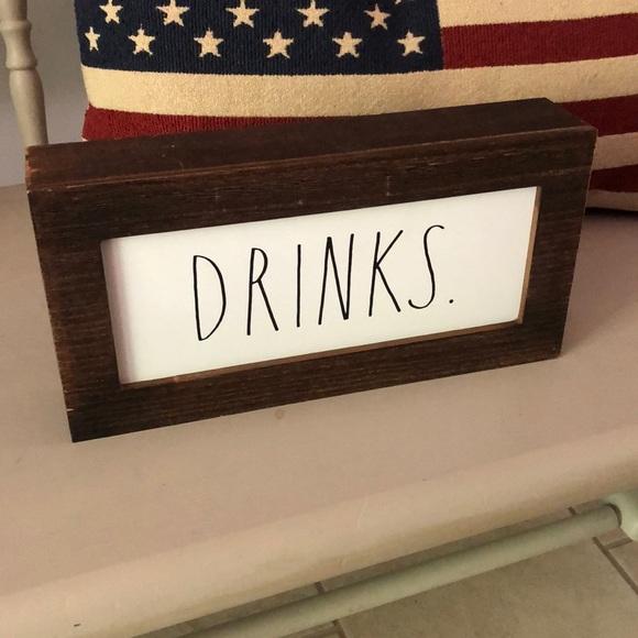 """Rae Dunn """"Drinks"""" sign"""